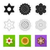 Vector o projeto do biscoito e coza o ícone Coleção do símbolo de ações do biscoito e do chocolate para a Web ilustração royalty free