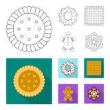 Vector o projeto do biscoito e coza o logotipo Coleção do ícone do vetor do biscoito e do chocolate para o estoque ilustração royalty free