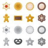 Vector o projeto do biscoito e coza o logotipo Coleção da ilustração conservada em estoque do vetor do biscoito e do chocolate ilustração stock