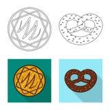 Vector o projeto do biscoito e coza o logotipo Grupo de ?cone do vetor do biscoito e do chocolate para o estoque ilustração do vetor