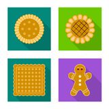 Vector o projeto do biscoito e coza o s?mbolo Grupo de ?cone do vetor do biscoito e do chocolate para o estoque ilustração do vetor