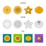 Vector o projeto do biscoito e coza o sinal Coleção do ícone do vetor do biscoito e do chocolate para o estoque ilustração stock