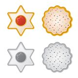 Vector o projeto do biscoito e coza o sinal Grupo da ilustração conservada em estoque do vetor do biscoito e do chocolate ilustração do vetor
