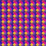 Vector o projeto poligonal com uma estrela e um retângulo Fotografia de Stock
