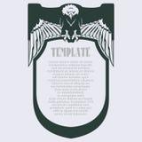 Vector o quadro com a águia para o negócio, envelope, convites e Imagens de Stock Royalty Free