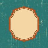 Vector o quadro da beira do vintage com teste padrão retro do ornamento no projeto decorativo do estilo antigo Textura velha da f Imagem de Stock