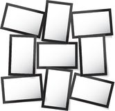 Vector o quadro para fotos e imagens, colagem da foto, enigma da foto Apresentação de marcagem com ferro quente da placa do humor ilustração do vetor