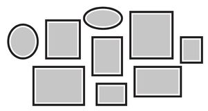 Vector o quadro para fotos, imagens, colagem da foto, enigma da foto Imagem de Stock Royalty Free