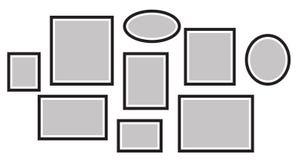 Vector o quadro para fotos, imagens, colagem da foto, enigma da foto Imagens de Stock Royalty Free