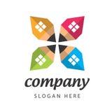 Empresa de construção civil do logotipo Foto de Stock