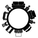 Vector o sinal furniture ilustração royalty free