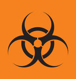 Vector o sinal na radiação em um fundo abstrato Imagem de Stock Royalty Free