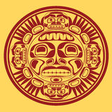 vector o símbolo do sol, stylization da arte noroeste Foto de Stock Royalty Free