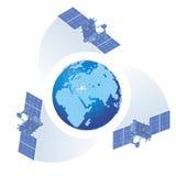 Vector o tema celular-GPS ilustração royalty free