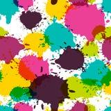 Vector o teste padrão abstrato sem emenda, aquarela espirra, borra Imagens de Stock
