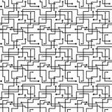 Vector o teste padrão abstrato sem emenda - placa de circuito s Fotos de Stock