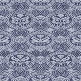 Vector o teste padrão antigo floral sem emenda com fitas do entrelaçamento ilustração royalty free