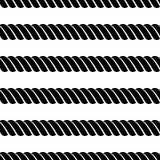 Vector o teste padrão cinzento sem emenda com ilustração simétrica do gráfico do fundo da corda Molde para envolver, fundos, tela Imagem de Stock Royalty Free