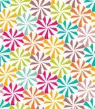 Vector o teste padrão colorido sem emenda moderno da geometria, flores Imagens de Stock Royalty Free
