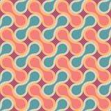 Vector o teste padrão colorido sem emenda moderno da geometria, gotas Fotografia de Stock
