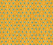 Vector o teste padrão colorido sem emenda moderno da geometria, pentagon das flores Fotos de Stock