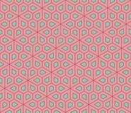 Vector o teste padrão colorido sem emenda moderno da geometria, pentagon das flores Fotografia de Stock