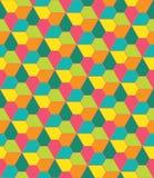Vector o teste padrão colorido sem emenda moderno da geometria, pentagon das flores Fotografia de Stock Royalty Free