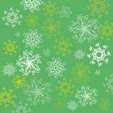 Vector o teste padrão com as flores abstratas no fundo verde Foto de Stock Royalty Free