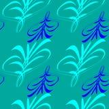 Vector o teste padrão das linhas azuis e azuis e dos hieróglifos para a parte traseira ilustração do vetor