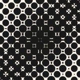 Vector o teste padrão de intervalo mínimo do inclinação diagonal com morphing formas, círculos e quadrados geométricos ilustração do vetor