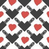 Vector o teste padrão do cigarro eletrônico no coração da forma Foto de Stock