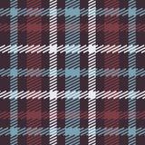 Vector o teste padrão escocês sem emenda da tartã em azul, vermelho, branco, marinha Foto de Stock Royalty Free