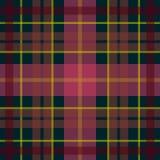 Vector o teste padrão escocês sem emenda da tartã na obscuridade - vermelha, cor verde, cor-de-rosa Foto de Stock