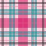 Vector o teste padrão escocês sem emenda da tartã no rosa macio, azul Imagem de Stock