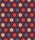 Vector o teste padrão floral da geometria colorida sem emenda moderna, fundo geométrico abstrato da cor Fotografia de Stock Royalty Free