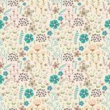 Vector o teste padrão floral doodle Fotografia de Stock