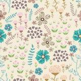Vector o teste padrão floral doodle Imagens de Stock