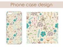 Vector o teste padrão floral doodle Imagens de Stock Royalty Free