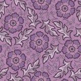 Vector o teste padrão floral sem emenda com as flores de florescência da fantasia Fotografia de Stock