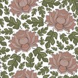Vector o teste padrão floral sem emenda com as flores de florescência da fantasia Fotografia de Stock Royalty Free