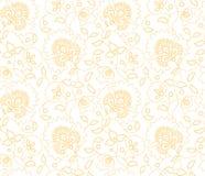 Vector o teste padrão indiano do estilo da flor sem emenda no fundo branco imagem de stock royalty free