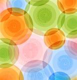 Vector o teste padrão multicolorido do fundo com projeto colorido geométrico dos círculos brilhantes ilustração do vetor