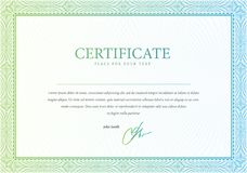 Vector o teste padrão que é usado no certificado Fotos de Stock