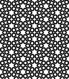 Vector o teste padrão sagrado sem emenda moderno da geometria, sumário preto e branco Imagem de Stock Royalty Free