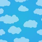 Vector o teste padrão sem emenda Céu azul com nuvens Fundo claro Imagem de Stock Royalty Free