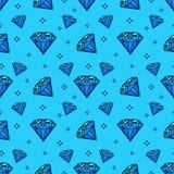 Vector o teste padrão sem emenda com ícones da gema e do diamante Texture e projete o elemento com ícone jewerly liso Fotografia de Stock Royalty Free