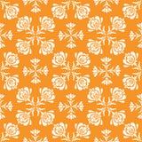 Vector o teste padrão sem emenda com as flores retros abstratas do estilo na disposição geométrica ilustração royalty free