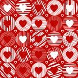 Vector o teste padrão sem emenda com corações ilustração royalty free