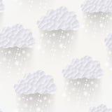 Vector o teste padrão sem emenda com flocos de neve, backgroun da nuvem do moderno ilustração do vetor