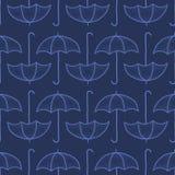 Vector o teste padrão sem emenda com guarda-chuvas Imagens de Stock